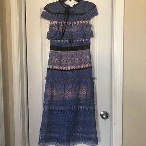 Dresses & Skirts - Vintage lace blue dress us6
